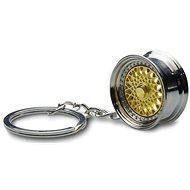 Přívěsek na klíče - lité kolo, zlaté - Přívěsek na klíče