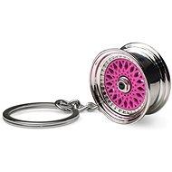 Přívěsek na klíče - lité kolo, růžové - Přívěsek na klíče
