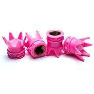 Valve Caps Pink Crown, 4pcs - Accessories