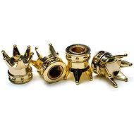 Gold crown valve caps, 4pcs - Accessories