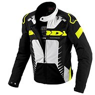 Spidi WARRIOR TEX černá/bílá/žlutá fluo 2XL - Bunda na motorku