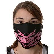 EMERZE maska neoprenová Pink Feather, černá/růžová - Maska