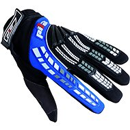 Pilot gloves, children, black / blue, size 4 - Motorcycle gloves