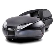 SHAD Vrchní kufr na motorku  SH48 Tmavě šedý vč. opěrky, karbonového víka a zámku PREMIUM lock - Kufr na motorku