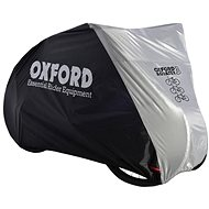 OXFORD Aquatex Motorcycle Cover for Three Bikes (Black/Silver) - Motorcycle cover