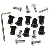 OXFORD Allen keys for plexiglass incl. M5 nuts in rubber housing and washers (silver anodized) - Assembly Kit
