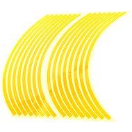 M-Style Reflexní celé proužky na kola motocyklu - Barva : Zlatá - Proužky na ráfky