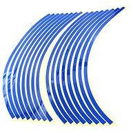 M-Style Reflexní celé proužky na kola motocyklu - Barva : Modrá - Proužky na ráfky