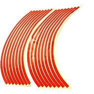 M-Style Reflexní celé proužky na kola motocyklu - Barva : Červená - Proužky na ráfky