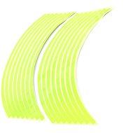 M-Style Reflexní celé proužky na kola motocyklu - Barva : Fosforově zelená - Proužky na ráfky