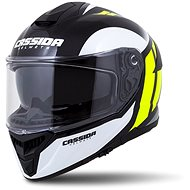 CASSIDA Integral GT 2.0 Ikon,  (bílá/žlutá fluo/šedá/černá, vel. M) - Helma na motorku