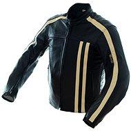 Cappa Racing STRIPES kožená černá/béžová M - Bunda na motorku