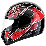 AIROH SPEED FIRE RACE SPRA55 - integrální červená helma L - Helma na motorku
