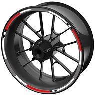 M-Style sada barevných proužků EASY na kola červená - Polepy na kolo