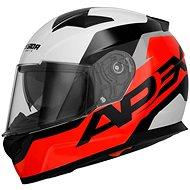 CASSIDA Apex Contrast (červená fluorescentní/černá/bílá/šedá) - Helma na motorku