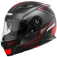 CASSIDA Apex Fusion (černá matná/červená fluorescentní/bílá) - Helma na motorku