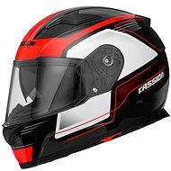 CASSIDA Apex Fusion (černá/bílá/červená fluorescentní) - Helma na motorku