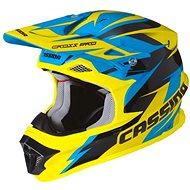 CASSIDA Cross Pro (modrá/žlutá fluo/černá) - Helma na motorku