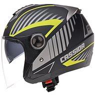 CASSIDA Magnum (černá matná/šedá/žlutá fluo) - Helma na skútr