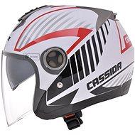CASSIDA Magnum (černá/bílá/červená) - Helma na skútr