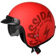 CASSIDA Oxygen Gear (červená matná/černá) - Helma na skútr