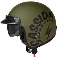 CASSIDA Oxygen Gear (zelená matná/černá) - Helma na skútr