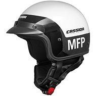 CASSIDA Police MFP (černá/bílá) - Helma na skútr