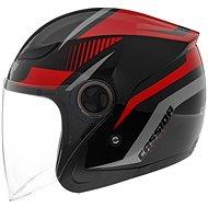 CASSIDA Reflex (černá/červená/šedá) - Helma na skútr