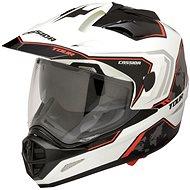 CASSIDA Tour Globe (černá/bílá/červená) - Helma na motorku