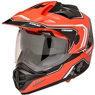 CASSIDA Tour Globe (černá/červená neon/bílá) - Helma na motorku
