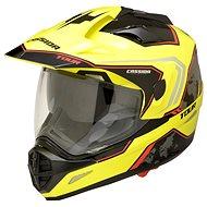 CASSIDA Tour Globe (černá/žlutá fluo/červená) - Helma na motorku