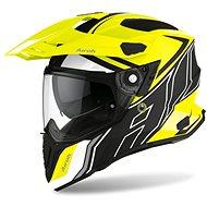 AIROH COMMANDER DUO fluo žlutá/černá/bílá-matná - Helma na motorku
