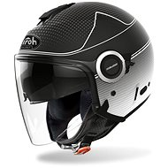 AIROH HELIOS MAP black / white-matt - Motorbike helmet