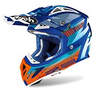 AIROH AVIATOR NOVAK 2.3 AMSS Turquoise/Orange/Blue - Motorbike Helmet