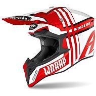 AIROH WRAAP BROKEN bílá/červená - Helma na motorku