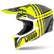 AIROH WRAAP BROKEN žlutá/šedá - Helma na motorku