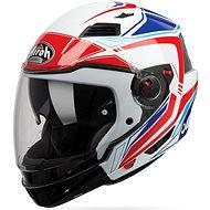 AIROH EXECUTIVE LINE bílá/modrá/červená - Helma na motorku
