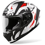 AIROH VALOR NEXY white / black / red - Motorbike helmet