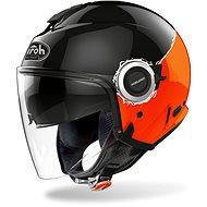 AIROH HELIOS FLUO černá/oranžová - Helma na motorku
