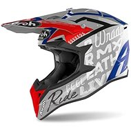 AIROH WRAAP STREET Grey/Blue/Red - Motorbike Helmet