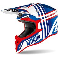 AIROH WRAAP BROKEN Blue/White/Red - Motorbike Helmet