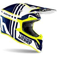 AIROH WRAAP BROKEN Blue/Fluo - Motorbike Helmet