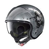 Nolan N21 Star Skull Scratched Chrome 72  - Helma na motorku