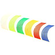 M-Style Reflective Whole Strips on Motorcycle Wheels - Stripes for rims