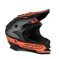 YOKO SCRAMBLE matně černá / oranžová - Helma na motorku
