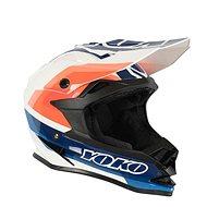 YOKO SCRAMBLE White/Blue/Orange - Motorbike Helmet