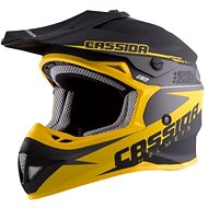 CASSIDA LIBOR PODMOL limited edition, (black matt / yellow / gray) - Motorbike helmet