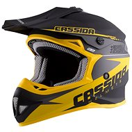 CASSIDA LIBOR PODMOL limited edition, (kids black matt / yellow / gray) - Motorbike helmet