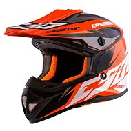 CASSIDA Cross Cup Two Kids, (Orange Fluo / White / Black / Gray) - Motorbike helmet