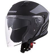 CASSIDA Jet Tech, (černá matná/šedá loga) - Helma na motorku